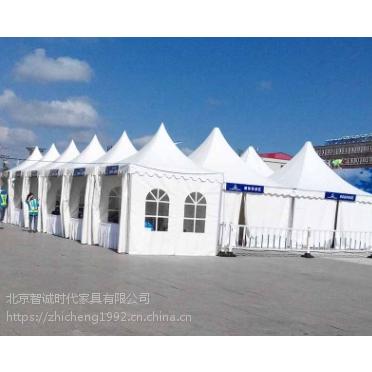 白色尖顶欧式帐篷 宴会酒席篷房 展会展览篷房租赁