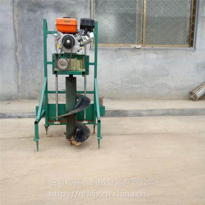 富兴汽油植树挖坑机 多功能手持式打洞机 果树汽油钻坑机直销