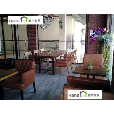 供应上海韩尔专注餐饮家具 工程定制十年积累了丰富的西餐厅沙发家具经验