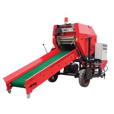 直销柴油动力打捆机 农业机械环保捆扎机 省力工作快包膜机