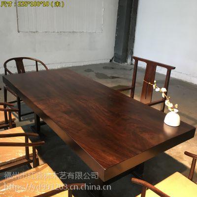 黑檀实木大班台大板桌 新中式风格
