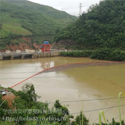 大型水电站拦污浮排现场案例