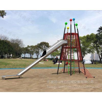 幼儿园非标定制游乐设备,高端儿童户外大型木质玩具,不锈钢组合滑梯,幼儿园、公园、学校、景区