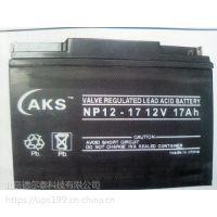 奥克松蓄电池 12V17AH AKS NP17-12 免维护铅酸蓄电池总代理\参数