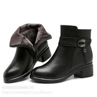 领啦网爆款优秀案例一时尚中跟中年皮棉鞋免费试用