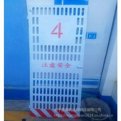济南施工电梯门厂家 工地楼层防护门 碧桂园工地安全门价格