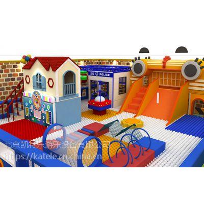 厂家定制开发赛车主题室内淘气堡 商场 游乐场蹦床球池儿童闯关乐园