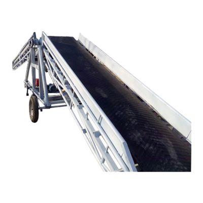 伸缩式输送机多用途 食品级带裙边爬坡机