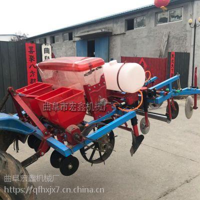 高效花生播种铺膜机 多功能玉米种植覆膜施肥一体机 两行蔬菜精播机厂家