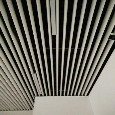 白色铝通天花吊顶 白色铝格栅天花 厂家直销