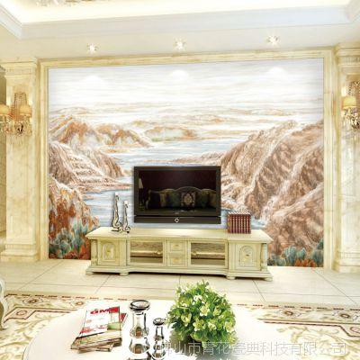 定制陶瓷壁画薄板家居山水电视背景墙客厅高温微晶石罗马柱内墙砖