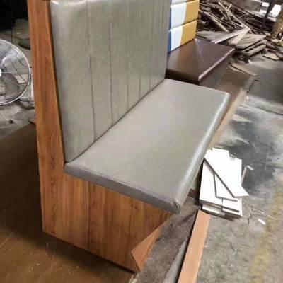 美式复古沙发定做,工业风做旧木质沙发卡座,餐饮沙发厂家直销