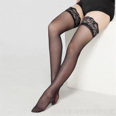 外贸情趣内衣宽蕾丝花边诱惑丝袜可爱性感美腿长筒高筒大腿丝袜