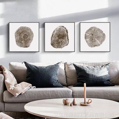 北欧客厅装饰画三联现代简约沙发背景墙壁画餐厅风景抽象挂画油画