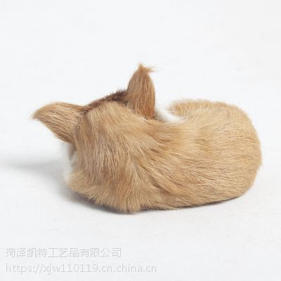 儿童玩具仿真动物模型玩具小狐狸家居摆件儿童礼物