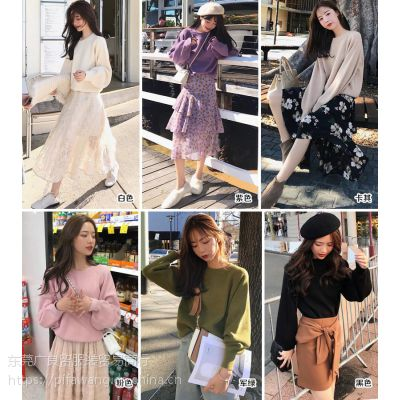 2018秋装上衣进货广州十三行拿货广州冬季女装外套拿货微信广州新款针织衫拿货