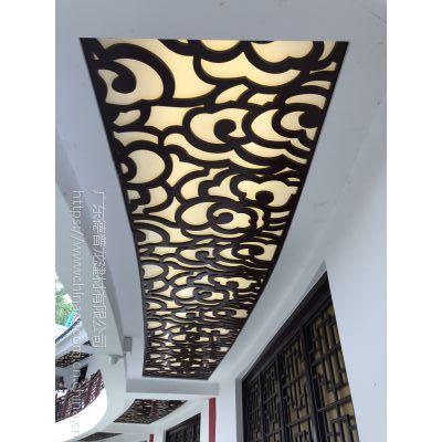 造型图案镂空雕刻铝板吊顶-镂空雕花艺术铝单板材料公司