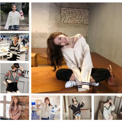 广州便宜女装毛衣加绒韩版宽松大版卫衣库存服装女士毛衣清货5-10元