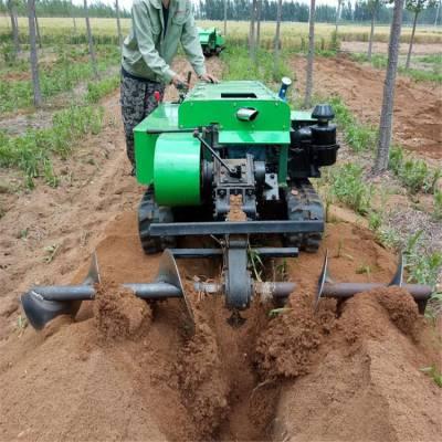 柴油大马力的施肥机 润华 履带式开沟埋肥机 柴油松土除草机