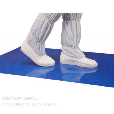 一件代发防静电粘尘垫18*36寸( 45*90cm)3.5C TQclean蓝色粘尘垫 无尘车间地垫