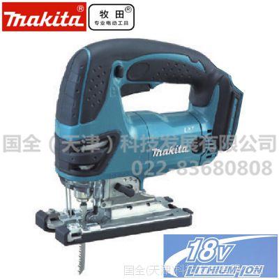 makita牧田电动工具 DJV180 充电式曲线锯 18V锂电木材金属切割机