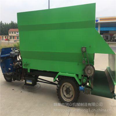 厂家直销青贮饲料撒料车柴油撒料车用于养殖厂投料车