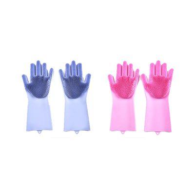 魔术硅胶洗碗手套 女抖音厨房橡胶家用防水刷碗家务手套 清洁神器