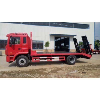 JAC江淮格尔发K5单桥挖机平板拖车 15吨挖机运输车价格