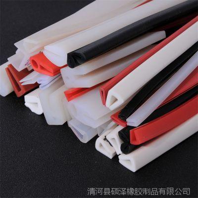 厂家供应硅胶门窗密封条 防火门硅胶制品胶条硅胶U型卡条支持定制