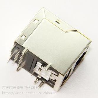 供应兴伸展电子100BASE东莞RJ45 USB带滤波器插座