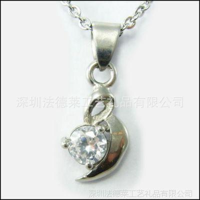 来样定做锌合金压铸创意精美镶钻服饰配饰吊坠五金装饰挂件