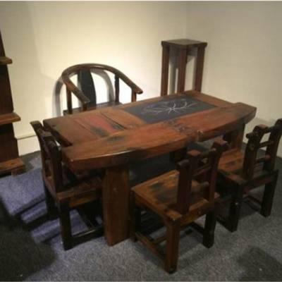 老船木茶桌椅组合中式功夫茶台