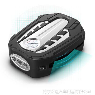 新款车载充气泵便携式 12V汽车电动打气泵 车用轮胎应急充气泵