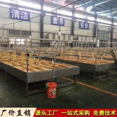 黄冈腐竹豆油皮加工设备,小型半自动手工腐竹豆油皮机厂家