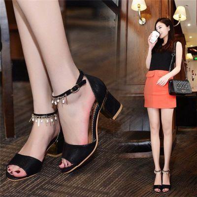 峰诺专业定制女鞋-真皮高跟凉鞋厂家定做