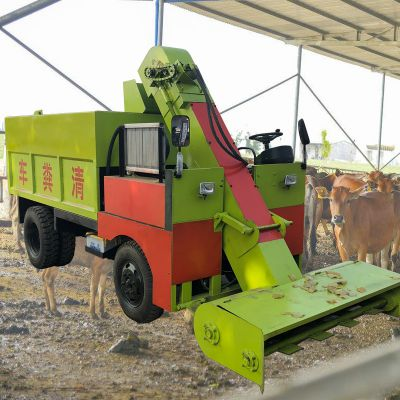 清粪车生产厂家 2立方柴油刮粪车 自动装粪的清粪机