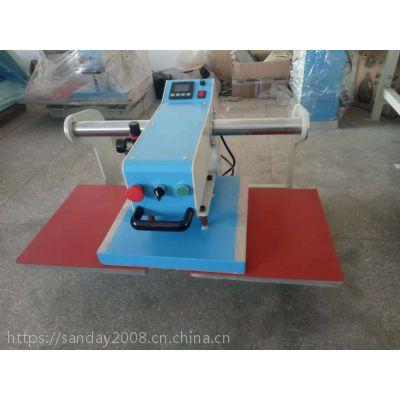 供应服装设备气动双工位烫画机压烫机热转印商标机烫唛机