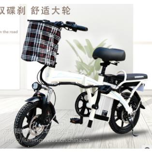陆鸣威 折叠电动自行车男女电瓶车迷你锂电成人助力车代驾车包邮
