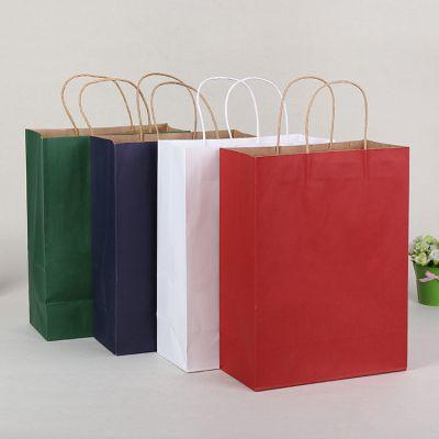 彩色牛皮纸袋 服装礼品手提袋 食品包装袋 购物袋