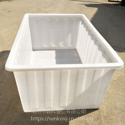 1300L塑料方箱 印染纺织推布车牛筋内胆 1300升方形塑料箱 水产养殖方箱 漂洗水槽
