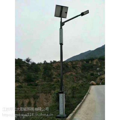供应青海西宁县特色太阳能景观庭院灯方管带造型