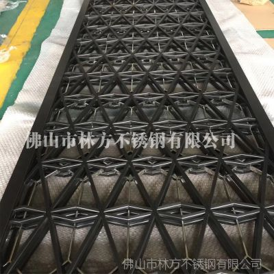 林方不锈钢定做加工供应:玫瑰金、黑钛、拉丝青古铜、红古铜 屏风