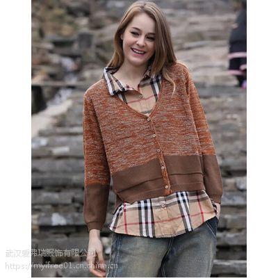 怎样找品牌服装货源【现货】ANNA女外套毛衣
