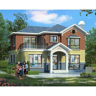 AT1662二层新农村自建漂亮别墅施工图纸设计12.7mX13.7m