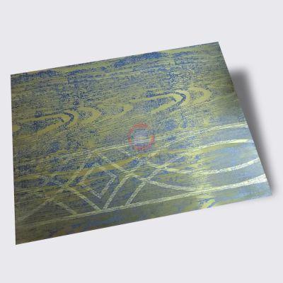 高比304不锈钢装饰镀铜做旧蚀刻板 不锈钢青古铜花纹蚀刻镀铜板材批发