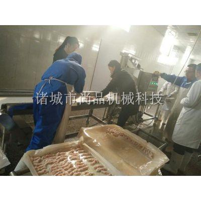 全自动鸡排肉裹糠油炸机 鱿鱼圈上糠油炸流水线口碑相传
