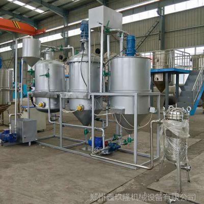 食用油精炼设备 小型精炼油机 油脂成套设备