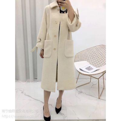 精致女装 苏力羊驼绒 大衣 18年新款呢子大衣三标齐全一手货源批发