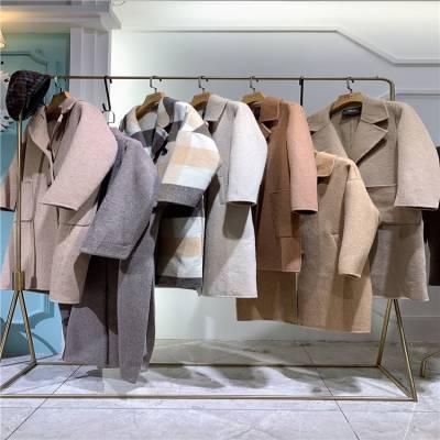 19冬装加厚羊绒大衣进货渠道广州三荟品牌女装走份批发
