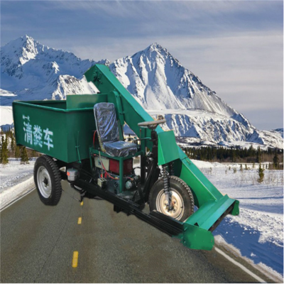柴油大功率清粪车 养牛场粪便清理机 自动化刮粪车